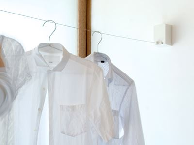 pid 4Mで洗濯物を部屋干し